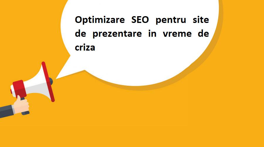 Optimizare SEO pentru site de prezentare in vreme de criza